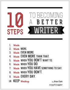 Infographic on writing tips