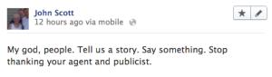 Facebook Oscars post