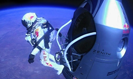Felix Baumgartner's jump from space